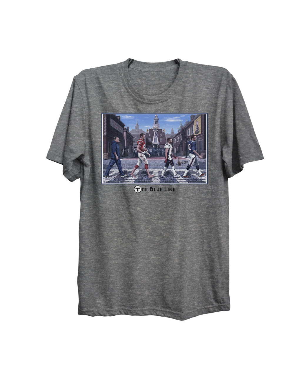 The Blue Line T-shirt - I Love Boston Sports Store a0a06372397
