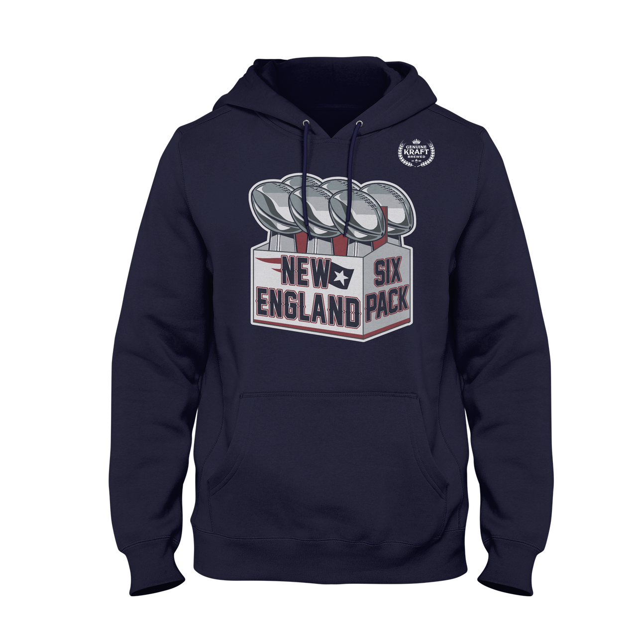 ca3a430e539 HOODIE) NEW ENGLAND SIX PACK - I Love Boston Sports Store