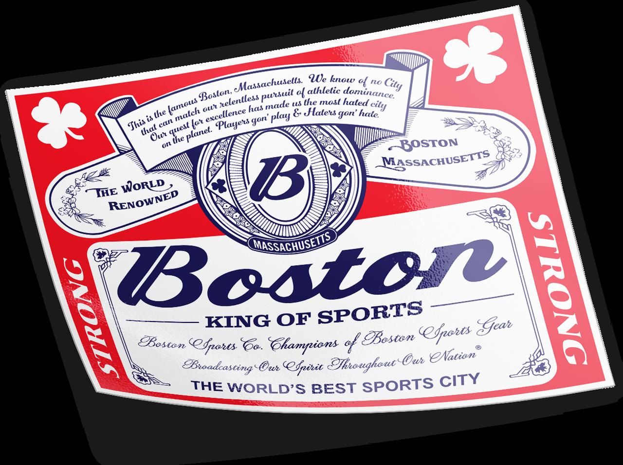 BOSTON King of Sports Sticker
