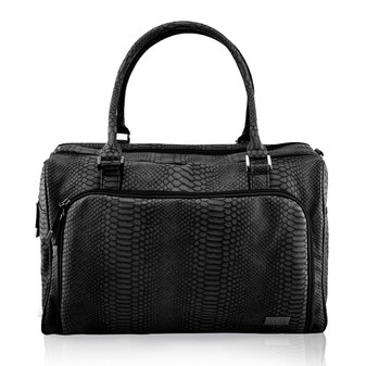 Double Zip Satchel - Black Mumba