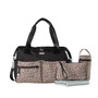 Accessories included: Removable zippered purse, perfect for holding dummies or cash. Large wipe clean padded change mat. Single insulated bottle carrier. Adjustable shoulder strap and removable stroller clips.