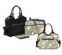 This Reversible Hobo Nappy Bag features: • Reversible Nappy Bag with coordinating inner components. • Large storage purse (removable). • Insulated cooler bag (removable). • Large easy wipe,padded change mat for your baby's comfort (removable). All Bags Reverse to Black