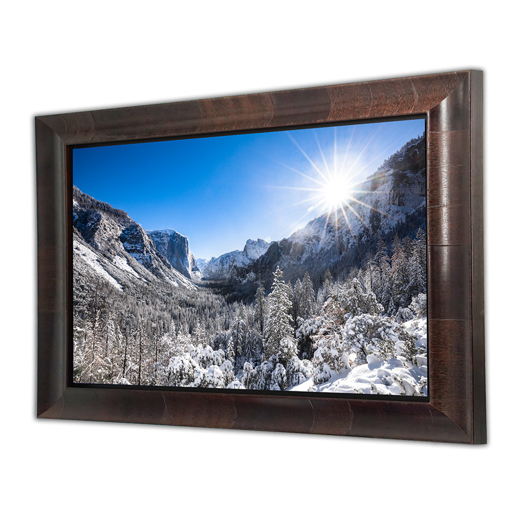 Metal print with Aspen Wood Frame, Angled View. Landscape photography by Dan Dunn.