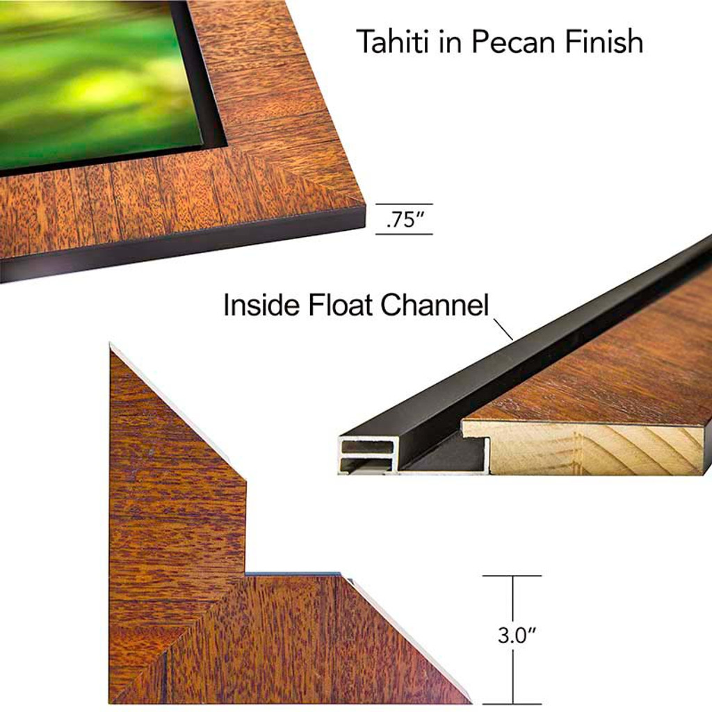 Tahiti Wood Frame with inset float.