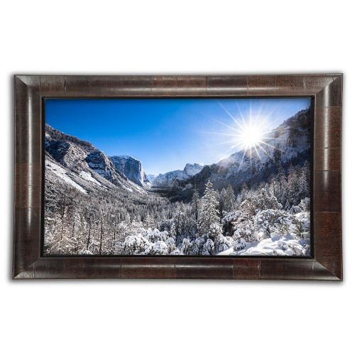 Metal print with Aspen Wood Frame, Front View. Landscape photography by Dan Dunn.