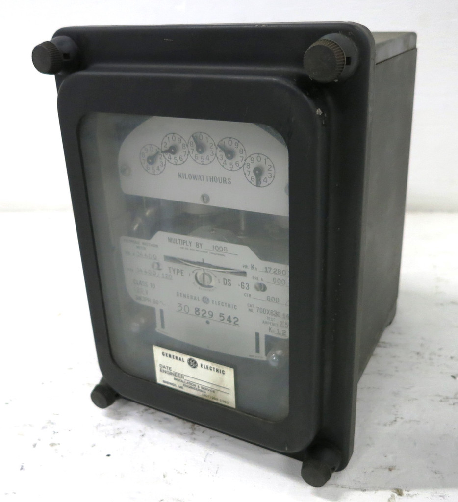 GE 700X63G142 Polyphase Watthour Meter Relay 3PH DS-63 Watt Hour 120V 3P3W 14400 (DW1773-6)