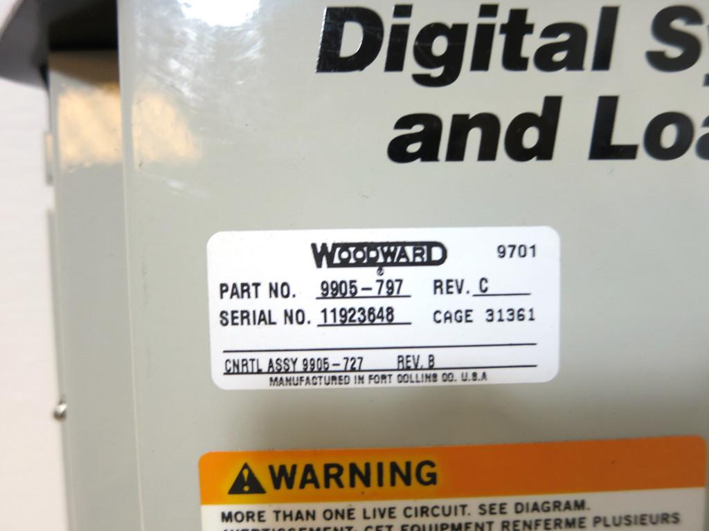 Woodward 9905-797 Rev C Digital Synchronizer and Load Control PLC Relay 9905797 (DW2620-1)