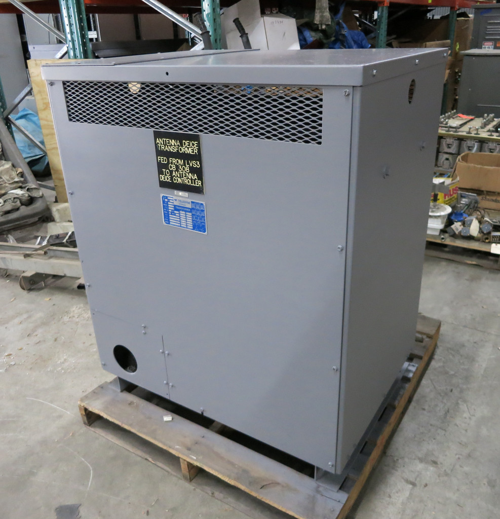 Teledyne 300 kVA 480 Delta to 480Y/277 V 3PH Dry Type Transformer 480V 23857 (DW3373-1)