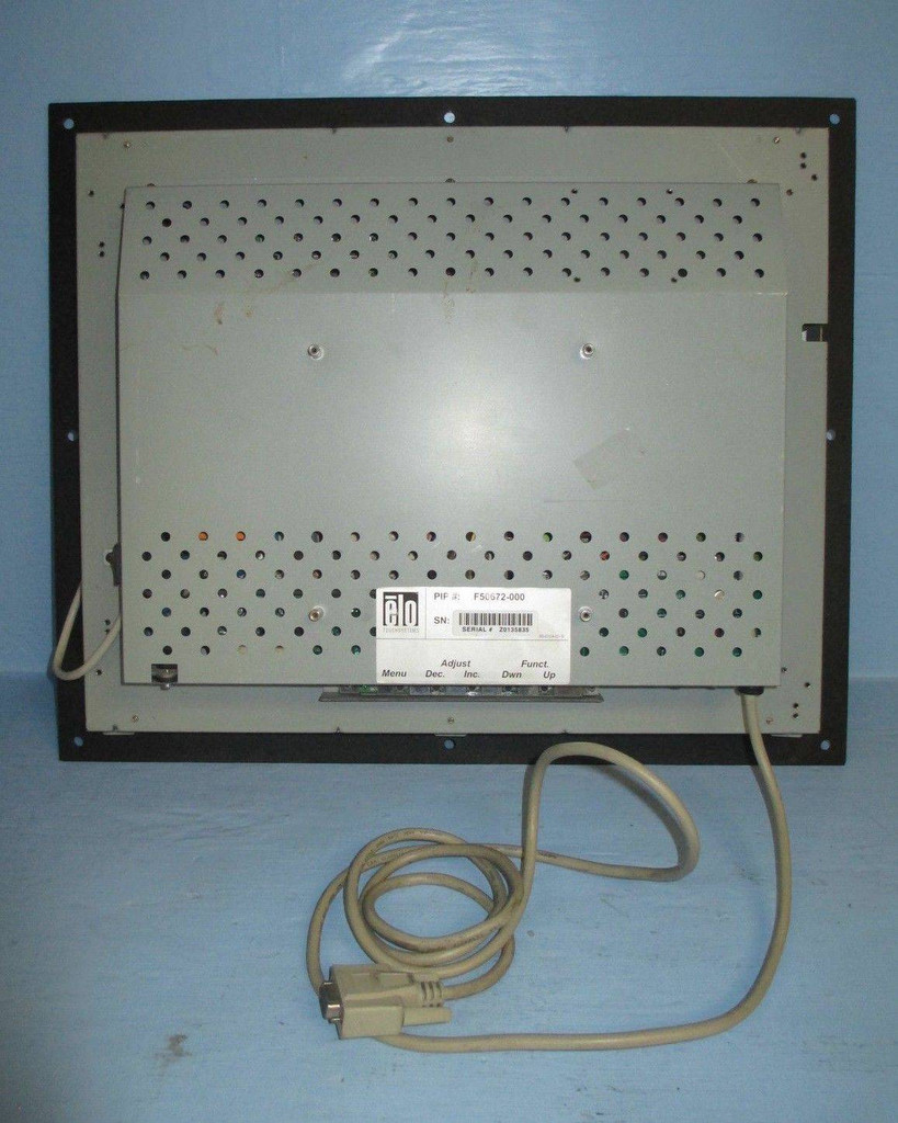 """ELO F50672-000 Touchscreen Display 1860L Operator Interface 18"""" Touchsystems in (EBI1238-1)"""