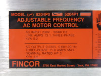 Fincor 5204P0 5200 Adjustable Frequency AC Motor Control Drive 3HP 4.4kVA 230V (TK5267-2)