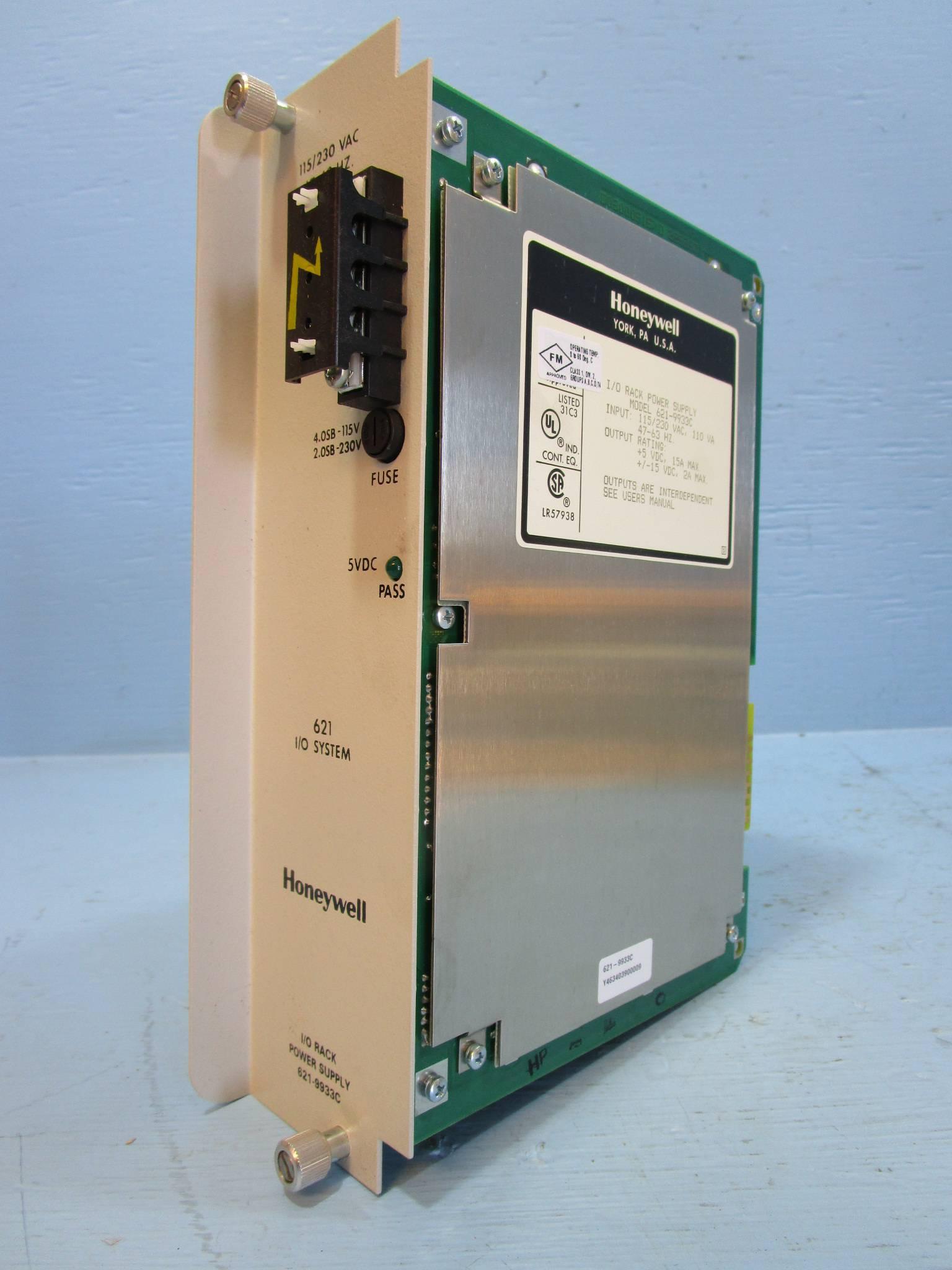 Honeywell 621-9933C Power Supply Module PLC 6219933C 621-9933 C PS I//O Rack