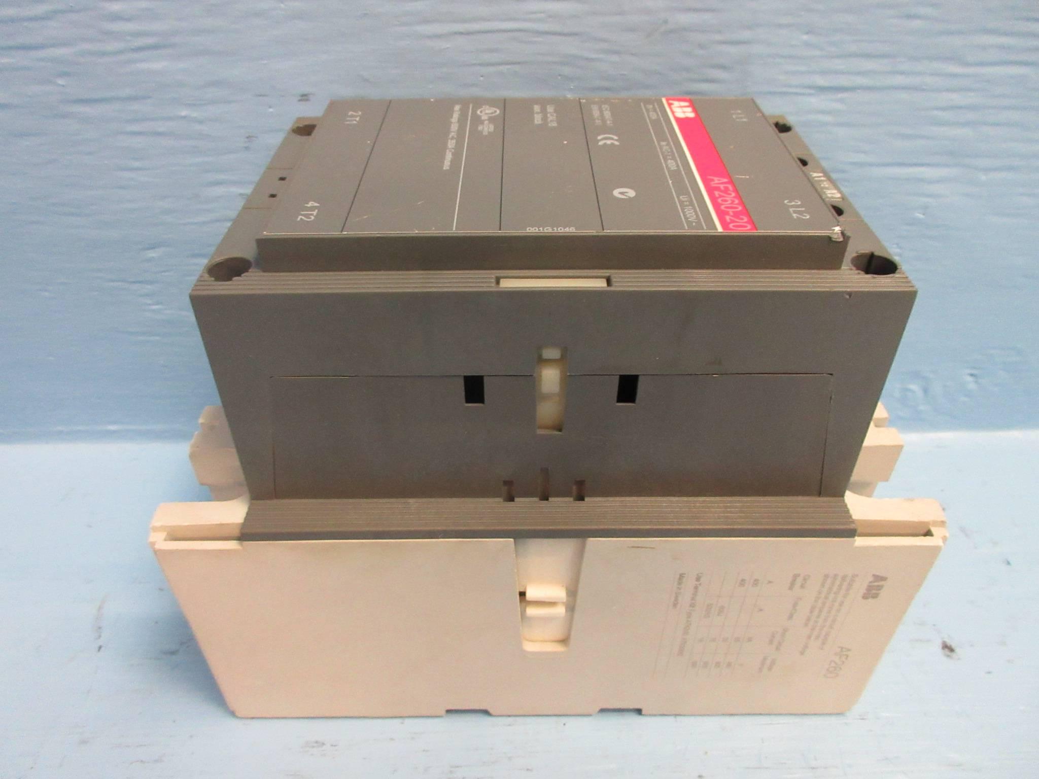 ABB AF260-20 Motor Contactor 2-Pole 350 Amp 600V 20-60V-DC Coil 1-Ph 2P  350A (TK2610-2)