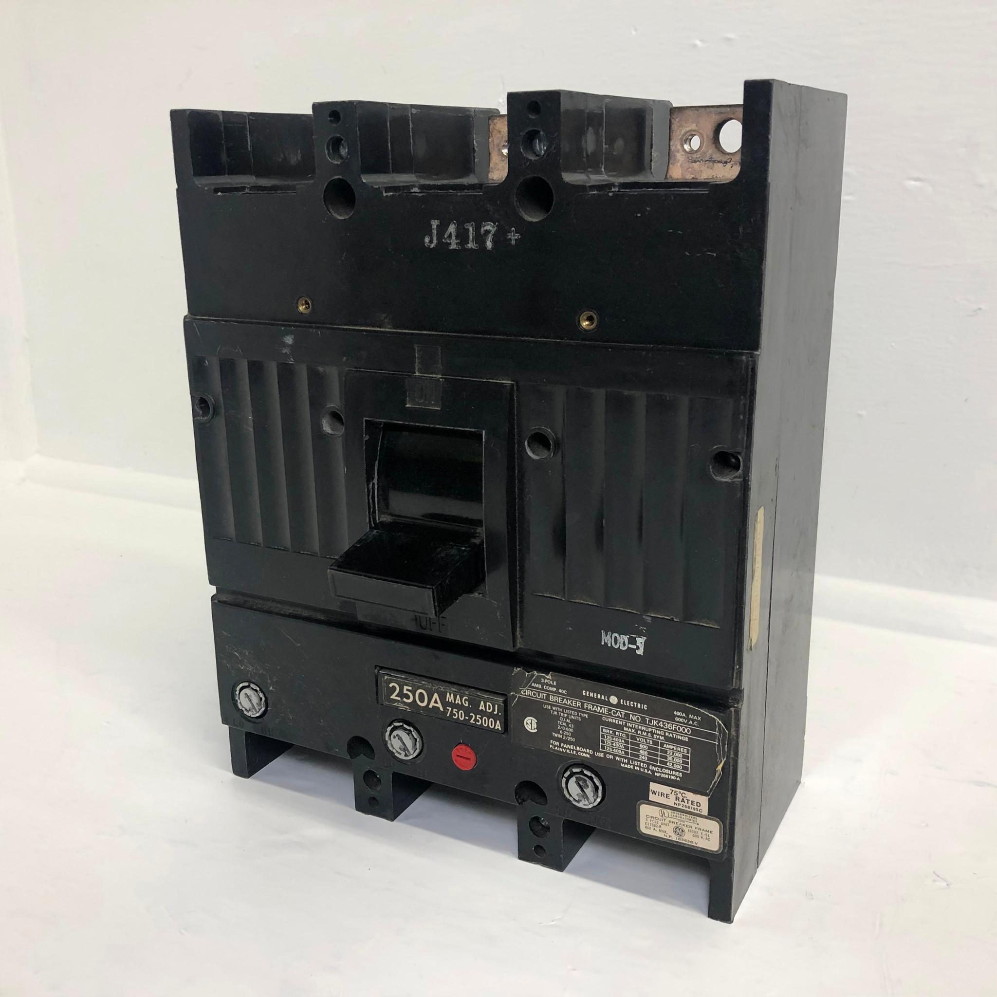 GENERAL ELECTRIC 400A 600VAC 3P CIRCUIT BREAKER TJK436F000