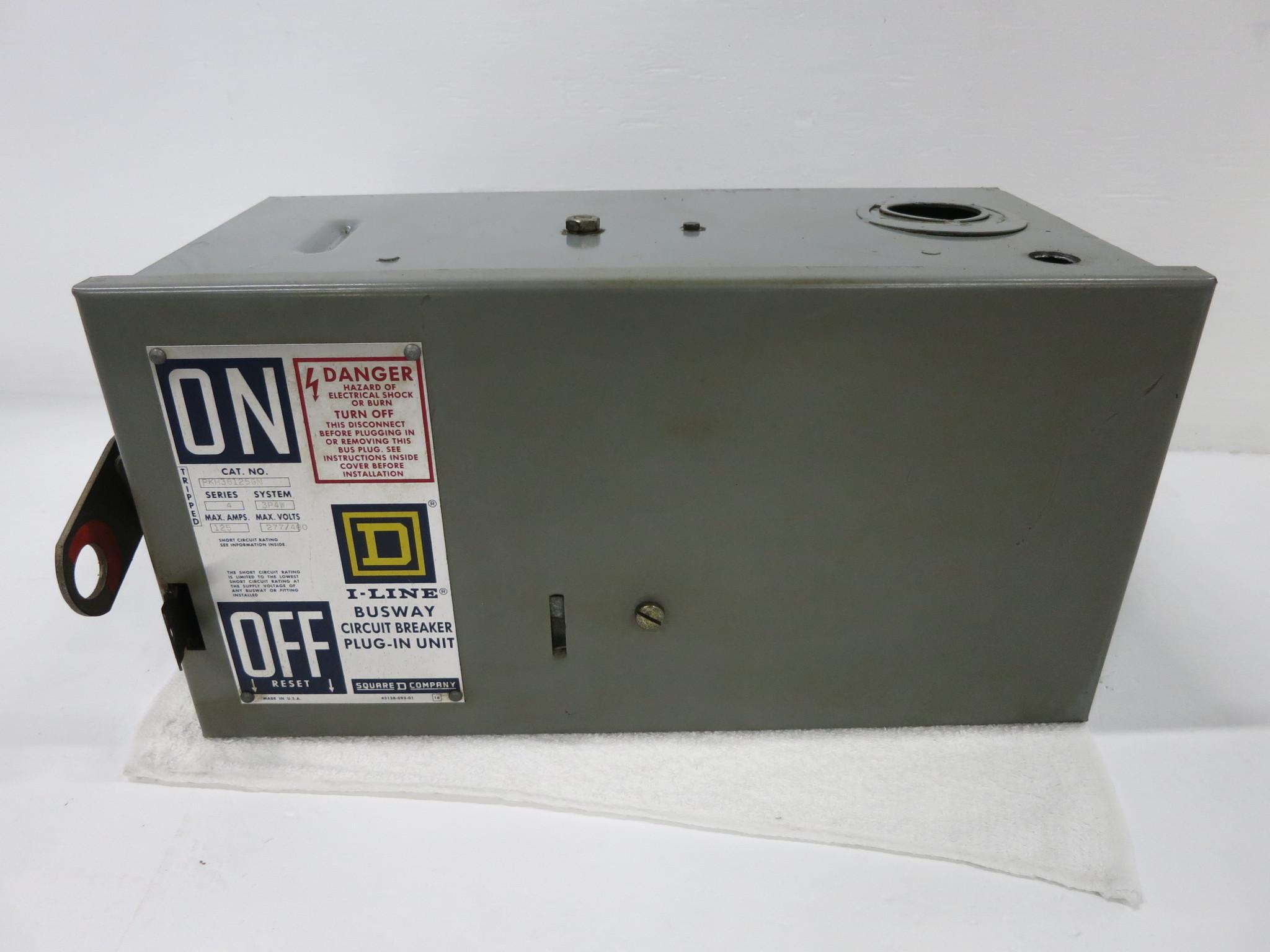 Square D PKH36125GN 125A 3P4W 480/600V I-Line Circuit Breaker Bus Plug on