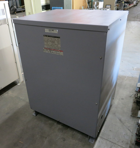 Square D 75 kVA 480 Delta to 208Y/120 V 3PH Dry Type Transformer 75T3HNV 208 3R (DW3822-1)