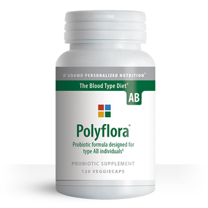Prebiotic / Probiotic to improve gut health for Blood Type AB - Polyflora AB