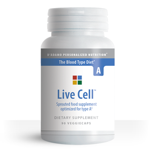 Sprouted greens vegetable supplement for Type A - Live Cell A