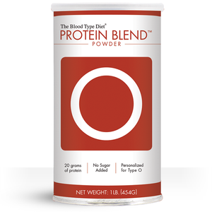 Clean protein powder blend with no added sugar personalized for Blood Type O