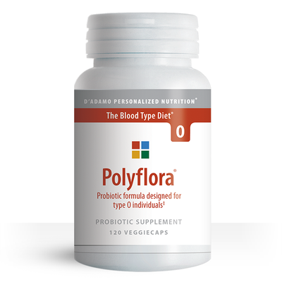Prebiotic / Probiotic to improve gut health for Blood Type O - Polyflora O