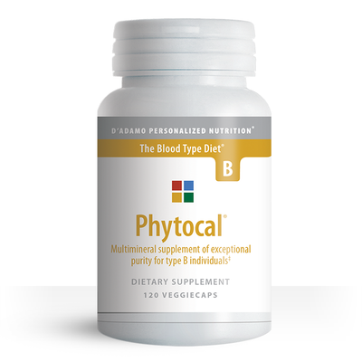 Multimineral and calcium supplement for Blood Type B - Phytocal B