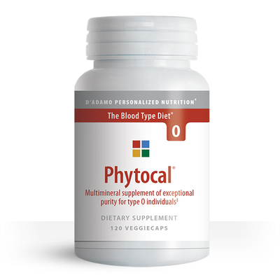 Multimineral and calcium supplement for Blood Type O - Phytocal O