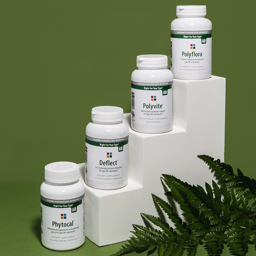Daily Essentials Pack AB - A collection of the most essential vitamins, nutrients, probiotics and dietary support supplements for Type AB.