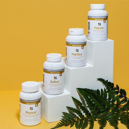 Daily Essentials Pack B - A collection of the most essential vitamins, nutrients, probiotics and dietary support supplements for Type B.