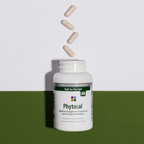 Multimineral and calcium supplement for Blood Type AB - Phytocal AB