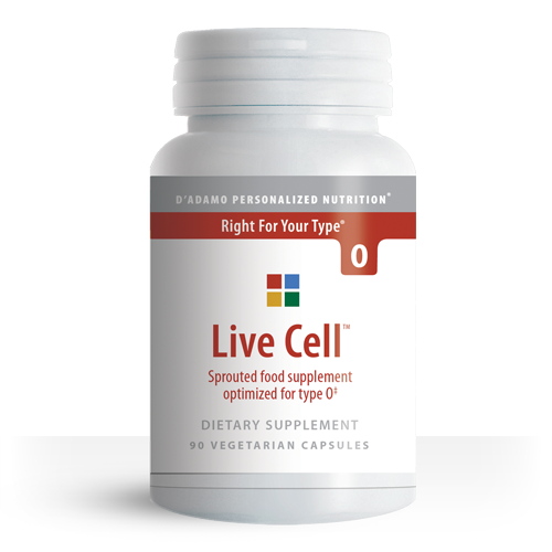 Sprouted Greens Vegetable Supplement for Type O - Live Cell O