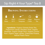 Sip Right 4 Your Type Tea B - Brewing Instructions and Ingredients