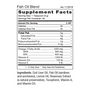 Fish Oil Blend - Supplement Facts