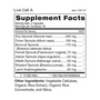 Live Cell A - Sprouted Greens Supplement Facts