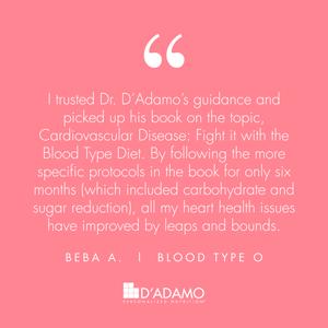 Beba A. - Blood Type Diet Success Story