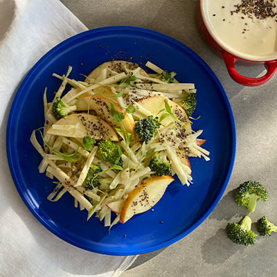 Broccoli & Apple Slaw with Chia Seeds | Right 4 All Types