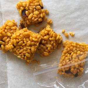 Turmeric Puffed Rice Bars