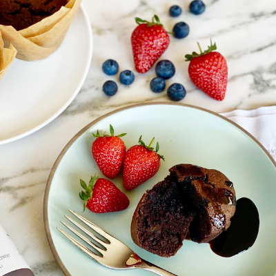 Plant-Based Chocolate Muffins with Proberry Drizzle | Right 4 All Types