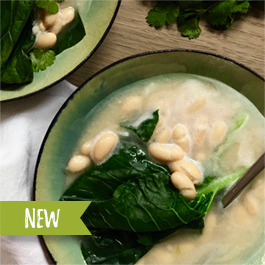 White Bean and Wilted Greens Soup