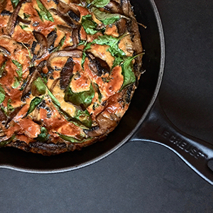 Portobello Mushroom & Baby Spinach Frittata