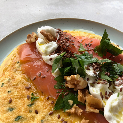 Hearty Breakfast Omelet Recipe | Eat Right 4 Your Type