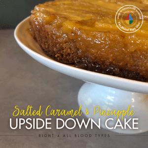 Salted Caramel & Pineapple Upside Down Cake