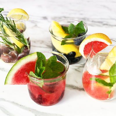 Four Fruit and Herb Infused Water Combos