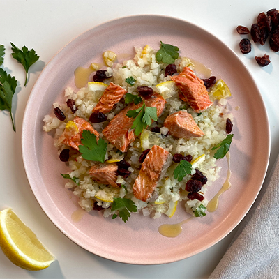 Wild Salmon & Cauliflower Pilaf | Right 4 Type AB