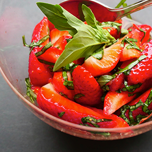 Strawberry & Basil Salad