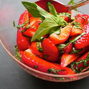 Strawberry & Basil Salad
