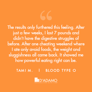 Tami M. - Blood Type Diet Success Story