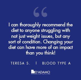 Teresa S. - Blood Type Diet Success Story
