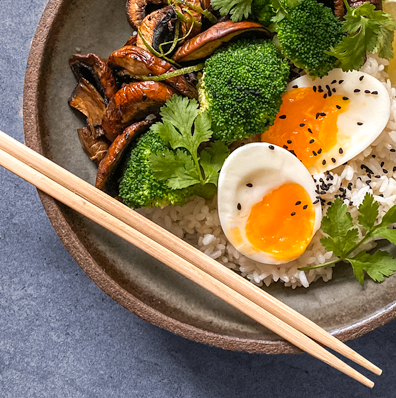 Rice Bowl With a Soft Boiled Egg Recipe | Eat Right 4 Your Type