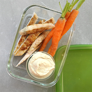 Turkey Breast Strips with Cannellini Bean Dip