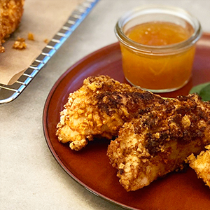 Crispy Turkey Tenders with Apricot Dipping Sauce - Right 4 All Blood Types