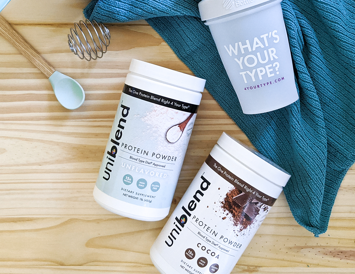 Only approved protein powders for The Blood Type Diet